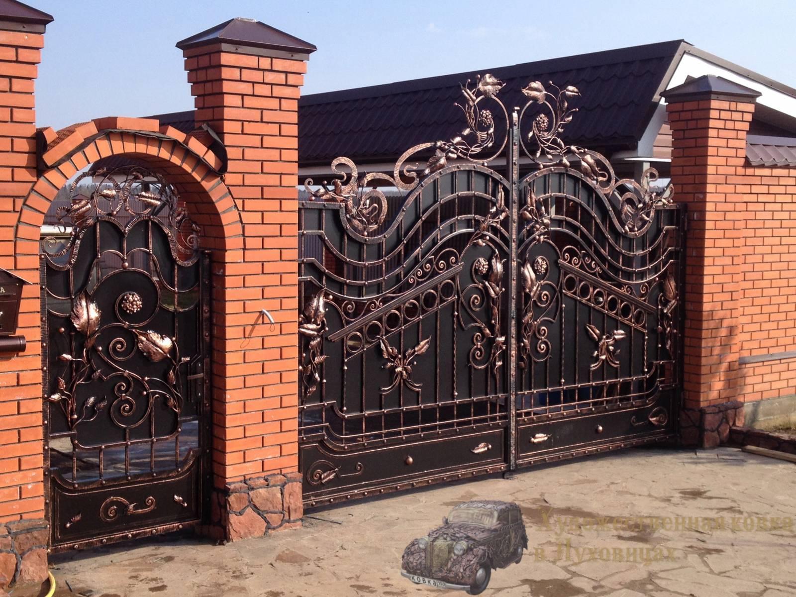 Купить кованые ворота в Нижнем Новгороде